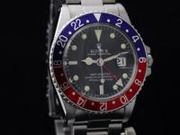 Available here is a Rolex GMT Master in Stainless Steel