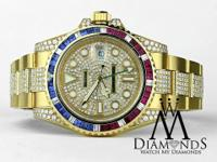 Rolex GMT Master II 116718 18k Yellow Gold PEPSI