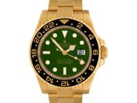 Gents Rolex GMT-Master II in 18k yellow gold Green