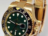 Rolex GMT-Master II 18k Yellow Gold Ceramic GREEN Dial