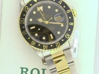 FOR SALE ROLEX WATCH GMT MASTER II 18K YELLOW GOLD &