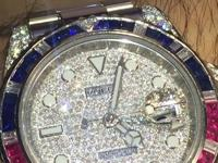 Rolex Style No: 116710LN ( WITH AFTERMARKET DIAMOND
