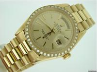 Genuine Rolex with 1 ct diamond bezel This is a genuine