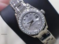 LADIES ROLEX 18K WHITE GOLD PEARLMASTER 69299 ORIGINAL