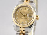 For sale:.  Rolex Ladies Datejust 18k Gold YG. SS
