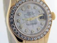 Rolex Ladies Pearlmaster 80318 18K Yellow Gold &