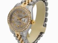 Authentic Rolex with Custom Diamond Dial and Custom