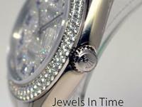 Rolex Masterpiece 34mm 18k White Gold & Diamond Watch &