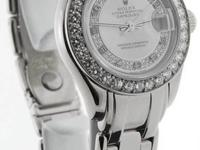 Rolex Masterpiece Automatic 18K White Gold & Diamond