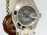 Rolex Masterpiece Pearlmaster 18k White Gold Diamond