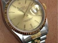Make: Rolex Model: Datejust Men's 18K/SS 36mm automatic