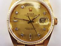 For sale today we have an stunning men's rolex 18 karat