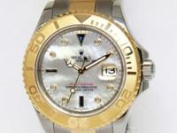 Rolex Mens Yacht-Master 18k Yellow Gold Steel MOP