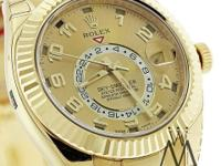 NEW Rolex Sky-Dweller 326938 18K Yellow Gold Champagne