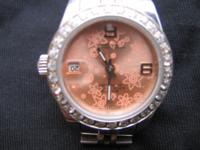 ROLEX OYSTER PERPETUAL DATE JUST PINK FLORAL