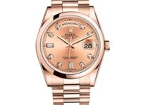 118205 chdp Rolex This watch has 36.00 mm 18K rose gold