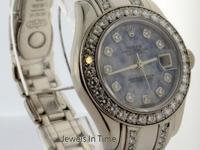 Rolex Pearlmaster 18k White Gold & Diamond Ladies Watch