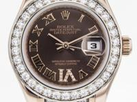 Rolex DateJust Pearlmaster 80285R in 18k Rose Gold with