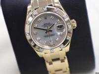 ROLEX PEARLMASTER 80318 18K YELLOW GOLD LADIES MOP