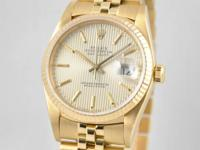 Available: Rolex Reoccurring Datejust 16018 18k Gold
