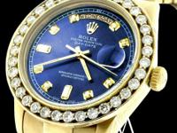 Rolex President 18038 Day-date 18k Gold Diamond Watch
