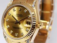 Rolex President 31mm 18k Gold u0026amp; Diamond Ladies