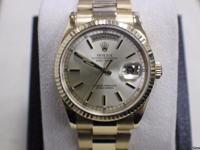 ROLEX PRESIDENT DAY DATE 118238 18K YELLOW GOLD OYSTER
