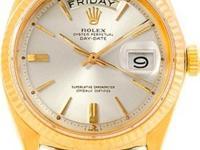 Case: Original Rolex 18k yellow gold case 36.0 mm in