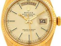 Case: Original Rolex 18k yellow gold case 36.0 mm in