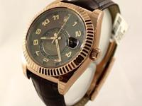 Rolex Sky Dweller in 18k EveRose Gold with Chocolate