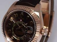 Rolex Sky-Dweller 18k Everose Gold Chocolate Arabic