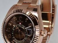 Rolex BRAND NEW Sky-Dweller 18k Everose Gold Chocolate