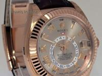Rolex Sky-Dweller 18k Rose Gold Mens GMT Watch