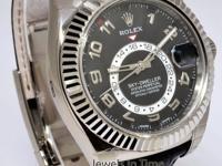 Rolex Sky-Dweller 18k White Gold Mens GMT Watch