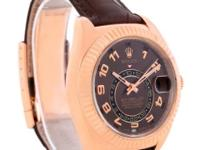 Case: 18K rose gold case 42.0 mm in diameter.Rolex