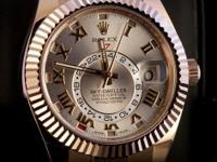 Pre-owned Rolex Skydweller Everose Sundust Roman 326935