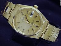 The original Rolex solid 18k yellow gold case with