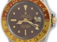 Rolex stainless steel and 14k yellow gold GMT-Master