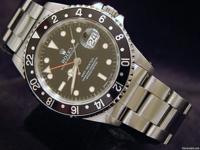 The original Rolex stainless steel case is in super