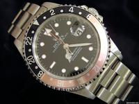 The original Rolex stainless steel case with stainless