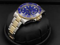 Rolex Submariner, Ceramic Bezel, 18k Gold & SS, Blue
