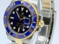 Rolex Submariner 116613LB Men's 40mm Blue Ceramic 18k