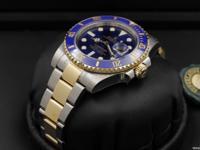 Rolex Submariner, Ceramic Bezel, 18k Gold & SS, Blue