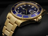 Rolex Submariner, Yellow Gold, Blue Dial, 40mm