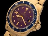 For a dial that was originally blue to turn to purple