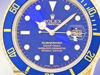 blue dial with luminescent hour markers, sweep second