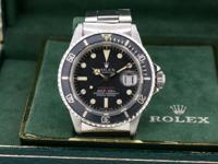 Rolex RED Submariner 1680 MK V Dial, stainless steel on