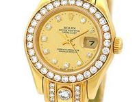 factory rolex champagne mirror dial with diamond hour