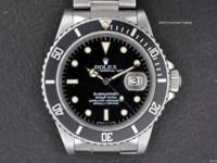 Very Rare and Important Rolex Transitional Submariner.