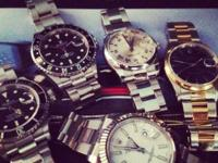 Looking for newer model rolex watches cash paid text me